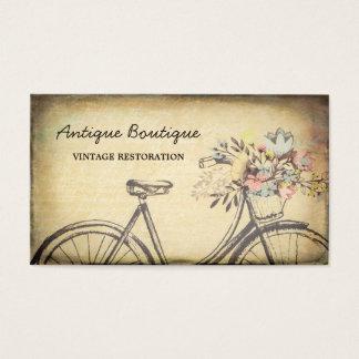 Cartes De Visite Bicyclette florale de restauration vintage de