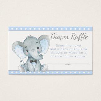 Cartes De Visite Billets de tombola de couche-culotte d'éléphant de