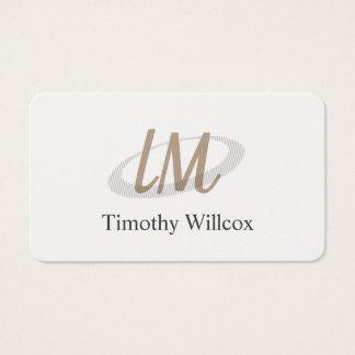 Cartes De Visite Blanc élégant