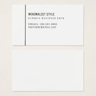 Cartes De Visite blanc élégant de style minimaliste