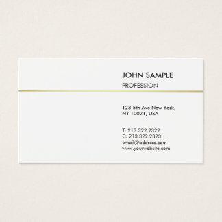 Cartes De Visite Blanc élégant professionnel moderne simple