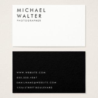 Cartes De Visite Blanc et noir minimalistes