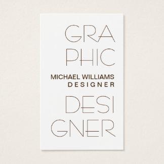 Cartes De Visite Blanc Simple élégant Conception Graphique