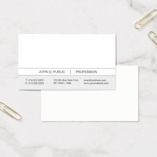 Cartes De Visite Blanc simple moderne professionnel et gris à la