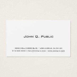 Cartes De Visite Blanc simple professionnel