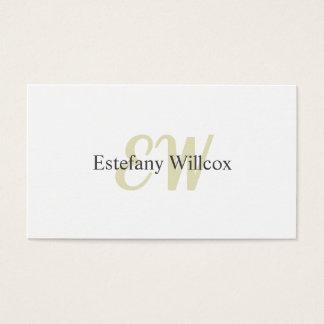 Cartes De Visite Blanc Simple Professionnel Minimal élégant