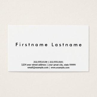 Cartes De Visite Blanc simple simple