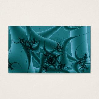 Cartes De Visite Bleu de turquoise et conception d'art de fractale