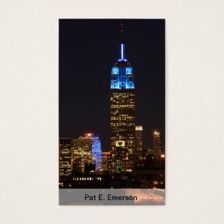 Cartes De Visite Bleu d'Empire State Building pour l'autisme 2012
