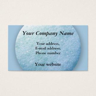 Cartes De Visite Bleu du point 1260C de bulles de savon