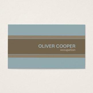 Cartes De Visite Bleu et Brown modernes de couleurs de terre de