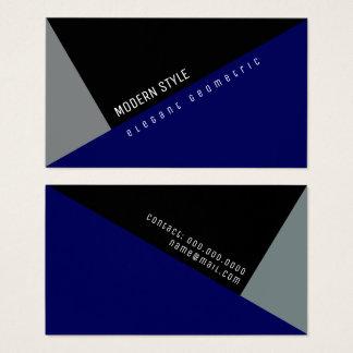 Cartes De Visite bleu géométrique minimal moderne et élégant
