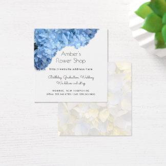 Cartes de visite bleus de fleuriste de fleuriste
