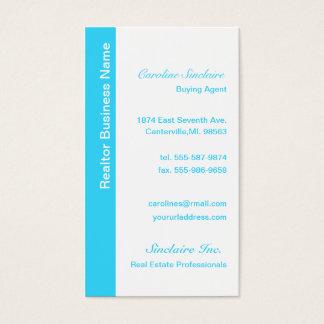 Cartes de visite bleus frais d'agent immobilier
