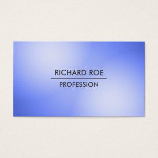 Cartes de visite bleus professionnels créatifs