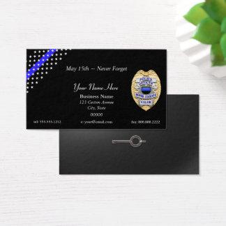 Cartes De Visite Blue Line mince maintiennent l'ordre l'insigne et