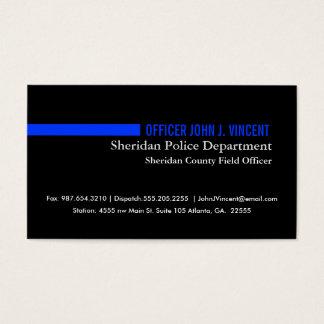 Cartes De Visite Blue Line mince moderne maintiennent l'ordre