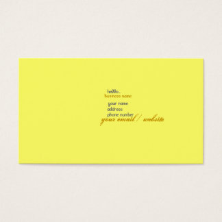 Cartes De Visite bonjour…
