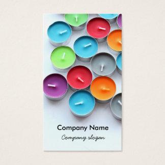 Cartes De Visite Bougies colorées