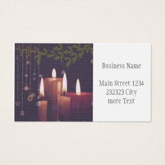 Cartes De Visite bougies de Noël