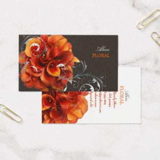 Cartes De Visite Bouquet/fleuriste oranges de calla de PixDezines
