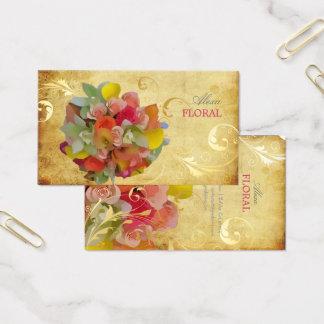 Cartes De Visite Bouquet nuptiale de PixDezines, fleuristes/cru