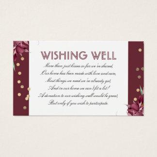 Cartes De Visite Bourgogne souhaitant les confettis bons floraux et