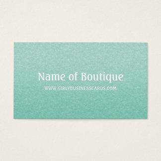 Cartes De Visite Boutique minimaliste verte en bon état chic simple