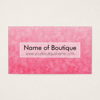 Cartes De Visite Boutique rose moderne Bokeh chic doux de mode