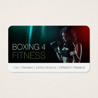 Cartes De Visite Boxe pour le coin arrondi d'entraîneur personnel