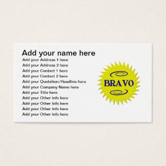 Cartes De Visite Bravo !