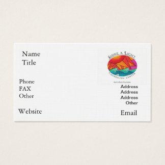 Cartes De Visite Brillez un centre de consultation léger