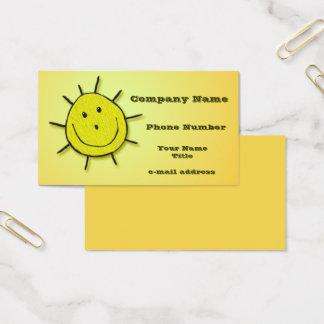 Cartes De Visite Broderie heureuse de Faux de Sun d'amusement