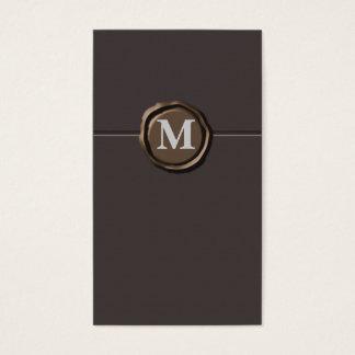 Cartes De Visite Businesscards de monogramme