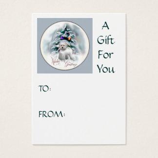 Cartes De Visite Cadeaux de Noël de Bichon Frise