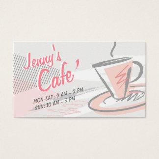 Cartes De Visite Café-restaurant de café/de style décontracté