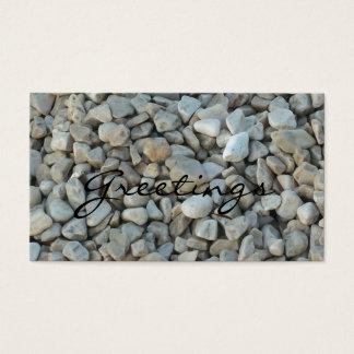 Cartes De Visite Cailloux sur la photographie de pierre de plage