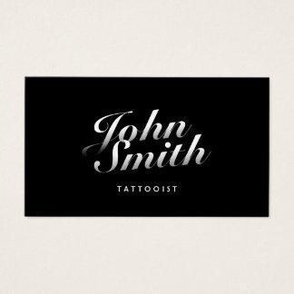 Cartes De Visite Calligraphique élégant foncé d'art de tatouage