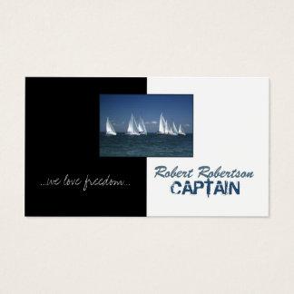 Cartes De Visite Capitaine Ship Nautical Card de bateau à voile