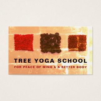 Cartes De Visite Carrés d'encens, instructeur de yoga