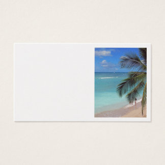 Cartes De Visite Catamaran outre de plage de Waikiki