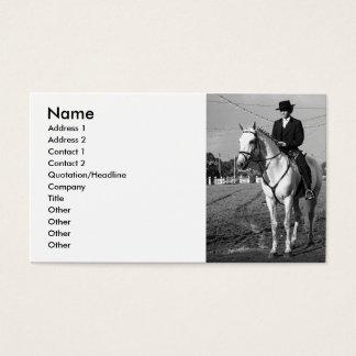 Cartes De Visite Cavalier portugais de cheval