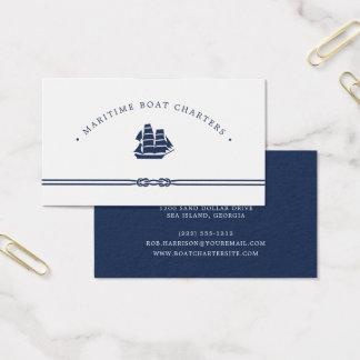 Cartes De Visite Charte nautique de bateau du bateau  