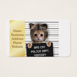 Cartes De Visite chat de photo - chat fou - minou - félin