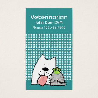 Cartes De Visite Chat professionnel de chien d'animal familier