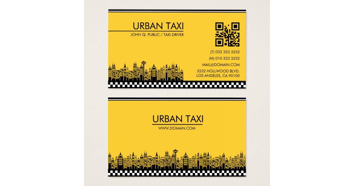 Cartes De Visite Chauffeur Taxi Moderne Cabine