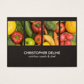 Cartes De Visite Chef élégant moderne de nutritionniste de photo de
