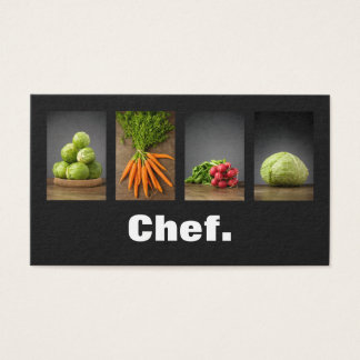 Cartes De Visite Chef élégant professionnel moderne de nutrition