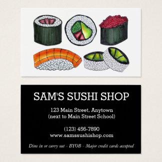 Cartes De Visite Chef japonais de restaurant de nourriture de Rolls
