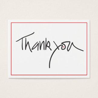 Cartes De Visite Chèques-cadeau de Merci en noir et rouge